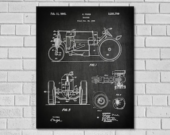 Tractor blueprint etsy farm tractor decor tractor patent art tractor diagram tractor blueprint farm decor malvernweather Choice Image