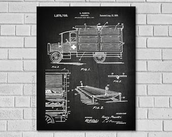 Paramedic Gifts - Ambulance EMT Patent - Ambulance EMT Decor - Ems Ambulance Art - Ambulance Ems Print - Ambulance EMT Patent - CM733
