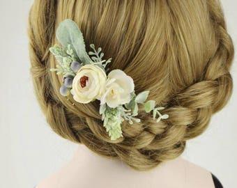 Flower Hair Comb Chic Nice Ivory Roses Bridesmaid Hair Accessories Bride Hair Comb Hair Piece