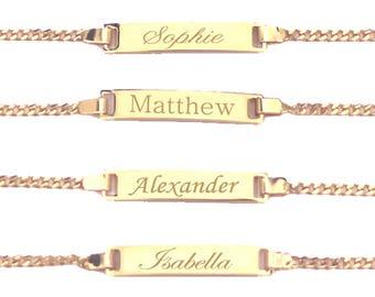 Baby Bracelet, Baby ID Bracelet, Custom Name Bracelet, Child Name Bracelet, Baby Boy Bracelet, Baby Girl Bracelet