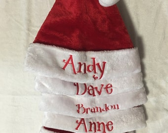 33d4e596f0c Elf hat Santa hat Santa Claus outfit monogrammed personalized Christmas hats  inexpendive gifts