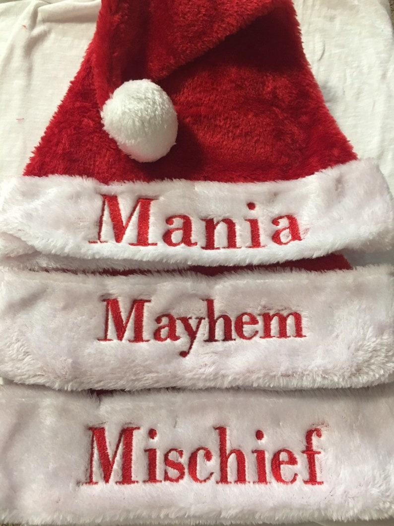 ec8b021fd07fe Elf hat Santa hat Santa Claus outfit monogrammed personalized