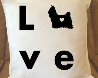 Love Shih TzuPillow Cover, Heart, Decorative Pillow Cover