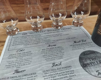 Printable Bourbon Tasting Party Scoring Mat and Invitations, Dinner Party Game
