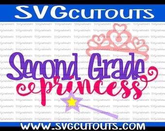 4th Fourth Grade Princess School Design Back To School SVG