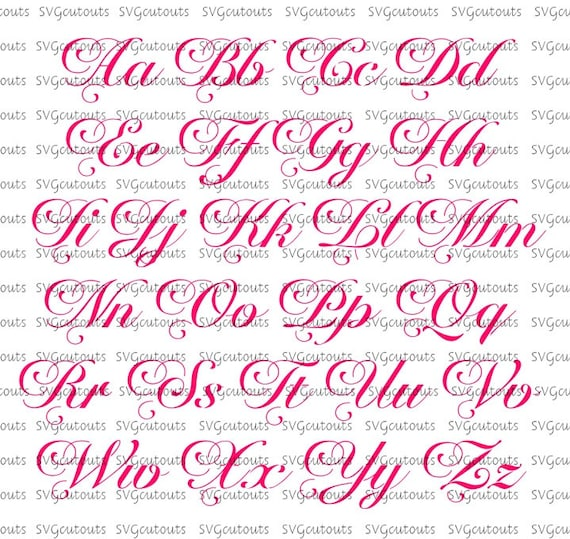 Elegant Script Monogram Chateau Font Design SVG Eps Dxf