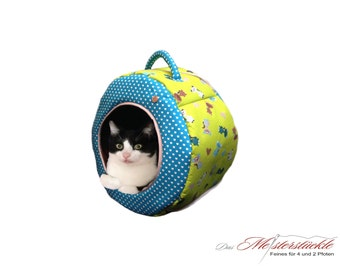 Cat cave dog cave green turquoise