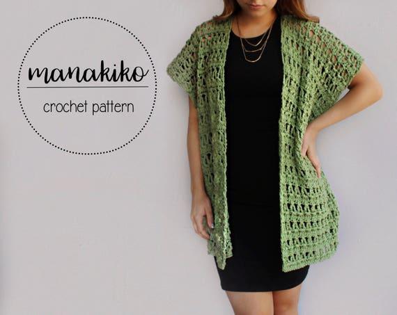 Kihei Kimono Pattern Crochet Pattern Kimono Cardigan Etsy Extraordinary Crochet Kimono Pattern