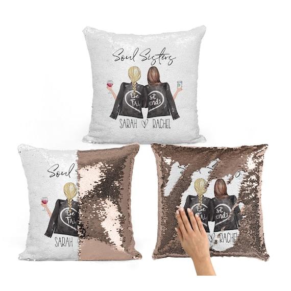 Best Friend Pillow Soul Sisters Gift Bff Gift Bestie Etsy
