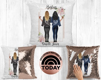 Best Friend Pillow, Soul Sisters Gift, BFF Gift, Bestie Pillow, Gift For Best Friend, Distance Friendship, Custom Pillow, Birthday Gifts