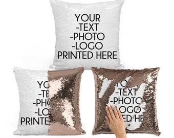 Custom Sequin Pillow, Funny Mermaid Pillow, Hidden Message Pillow, Custom Pillow, Stocking Stuffer, Christmas Gifts, Throw Pillows