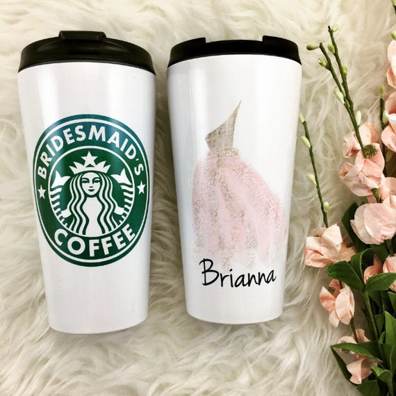 Wedding Party Gifts Canada: Bridesmaids Starbucks Cup Bridesmaid Gifts Personalized