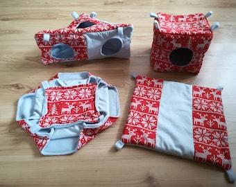 Christmas rat hammocks, reindeers of Santa Claus, Xmas, pet toys