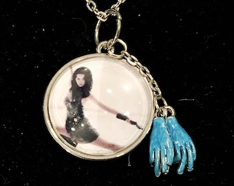 River Tam inspired, two by two hands of blue, Firefly, Serenity, silver pendant necklace