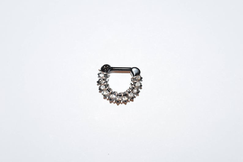 Linked Chain Design Surgical Steel Nose Ring Septum Clicker