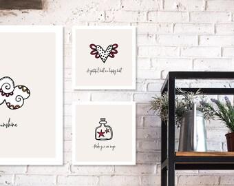 PRINTABLE Wall Art Inspirational Sayings | Instant Digital Print Download | Original Design