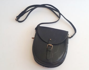 18f73b91f32 vtg MULBERRY Congo Black leather crossbody shoulder small bag