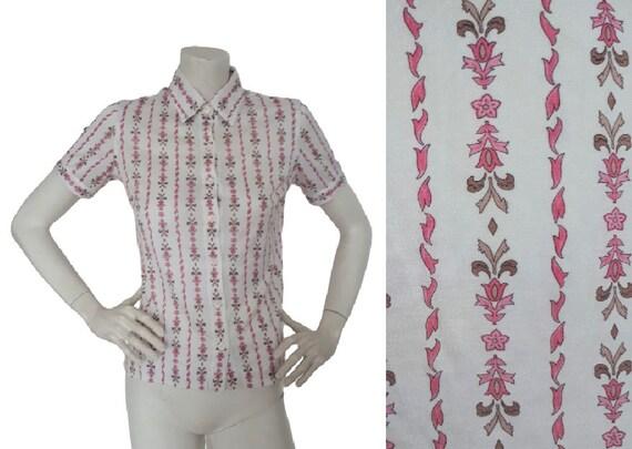 CELINE vintage 70s Signature floral chain print sh