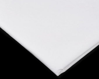 Fleece for the production of everyday masks, mouth-nose face masks, washable up to 95 degrees, white