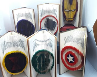 Avengers - folded book colorized 6Livres Pack