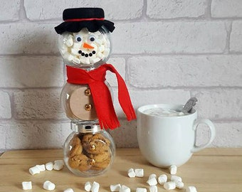 Hot Chocolate Snowman~Christmas Hot Chocolate Treat~Hot Chocolate Favour~Christmas Eve Chocolate Drink