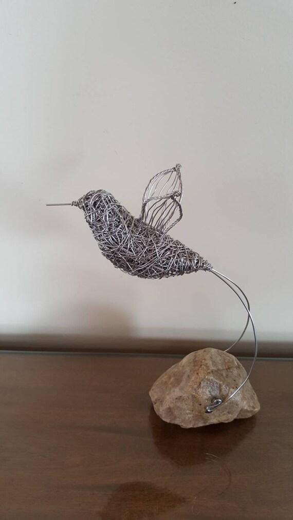 En Wire Sculpture | Wire Hummung Bird Wire Sculpture Wire Art Metal Art Etsy