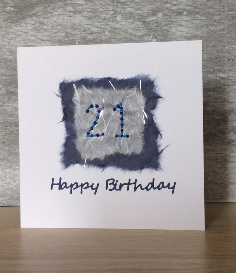 Handmade Greeting Cards 21st Happy Birthday To