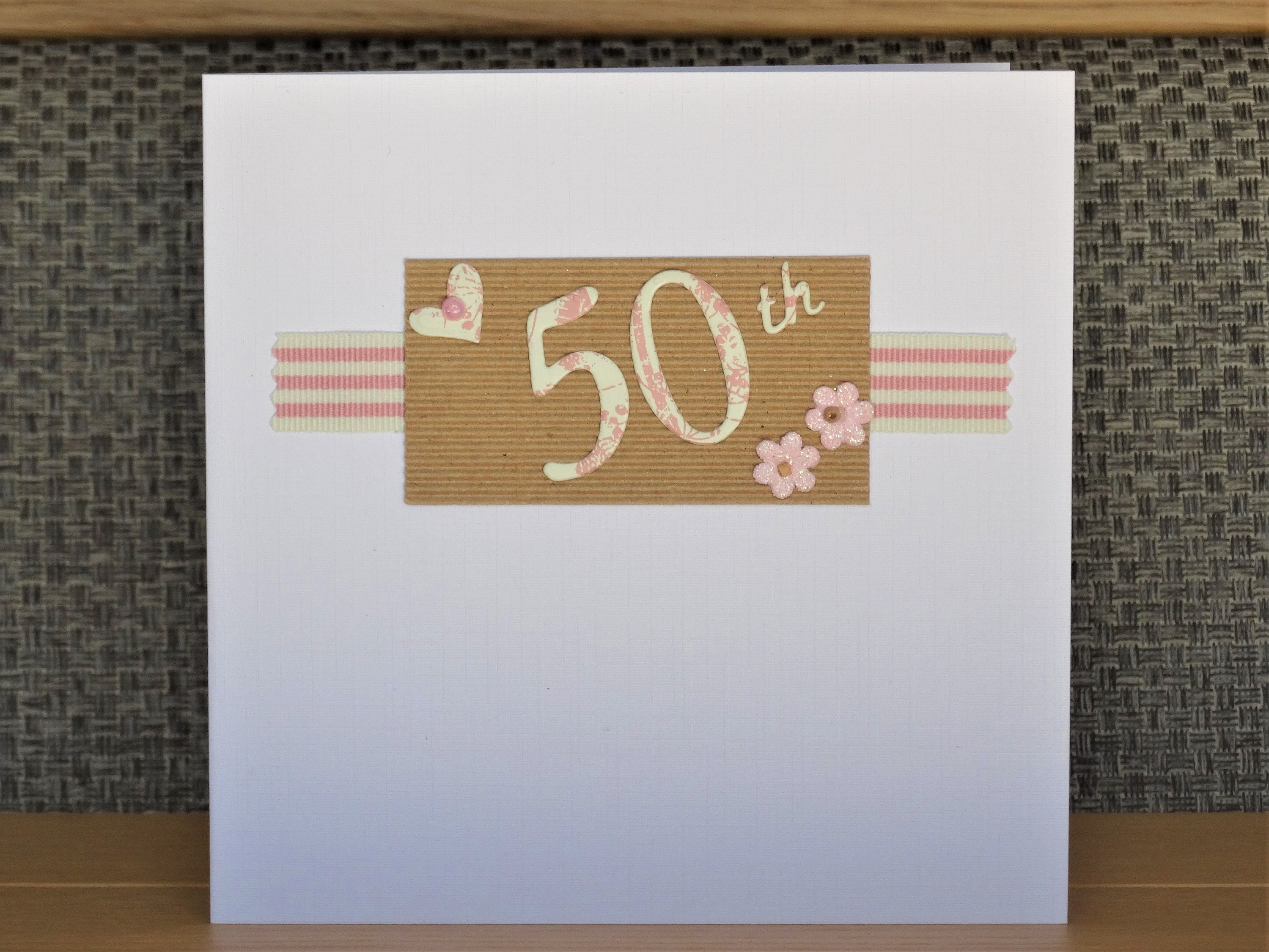Handmade Greeting Cards 50th Birthday Card Or Anniversary