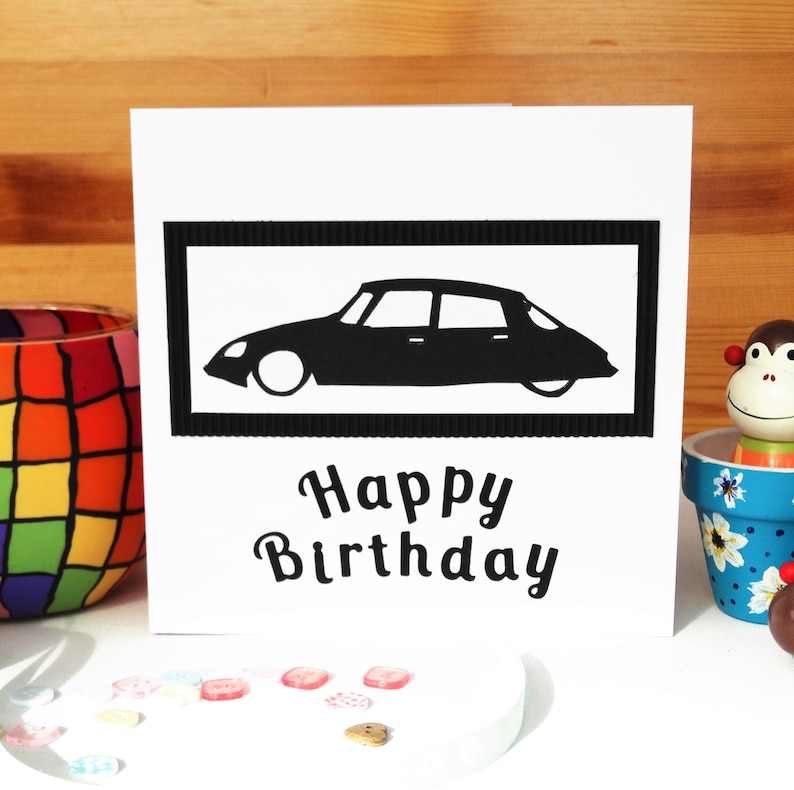Handmade Greeting Cards Birthday Card For Citroen Lovers