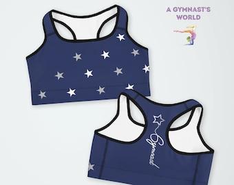 9d16952a9f Gymnastics Bra - Gym Bra - Sportswear - Gymnastics Gift - Sports bra -  Gymnastics Sportswear