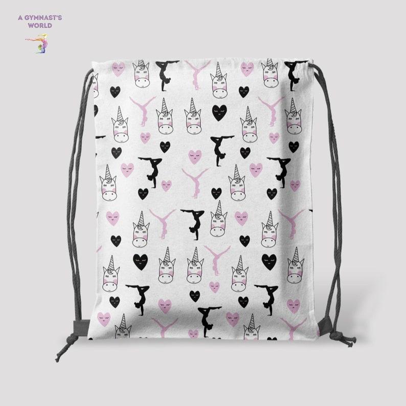 36df7be267 Gymnastics Bag Unicorn Bag Drawstring bag Gymnastics