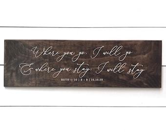 wedding vows wood etsy