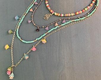 Colorful Layered Boho Necklace