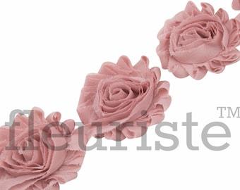 Chiffon Flower New Shabby Flower Tangerine 1 Yard Shabby Chic Shabby Flower Trim Wholesale Rose Trim Shabby Rose trim