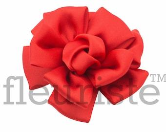 RED satin Flower, Wholesale Flower, Fabric Flower, Headband Flower, Wedding Flower, Flower Embellishment, Diy Flower, DIY Headband, DIY