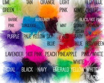 Marabou Feather Puffs, Marabou Puffs, Feather Puffs, Marabou Feathers, Curly Feathers, Feather Puff , Wholesale feather puffs, Choose Colors
