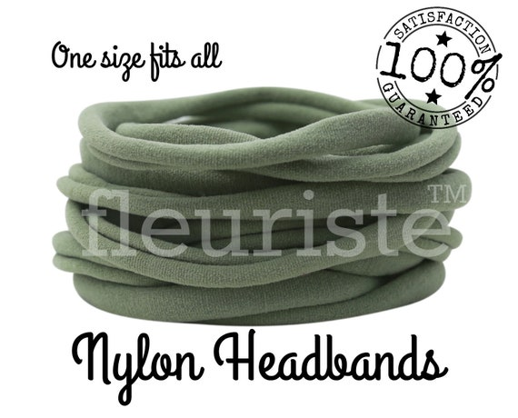 Sage Nylon headbands wholesale nylon headbands bulk  2cbb2d4e568