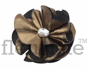 BRONZE Shiny Flower, Wholesale Flower, Fabric Flower, Headband Flower, Wedding Flower, Flower Embellishment, Diy Flower, DIY Headband