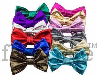 Shiny Bows, Large Bows, Sparkly Bows, Hard Bows, diy Bows, DIY Hair Bows, Fabric Bows, Wholesale Bows, Diy Headband, 3 inch, Choose colors