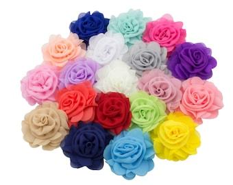 custom order for Jennifer, 6 flowers, 2 aqua, 2 light pink, 2 peach