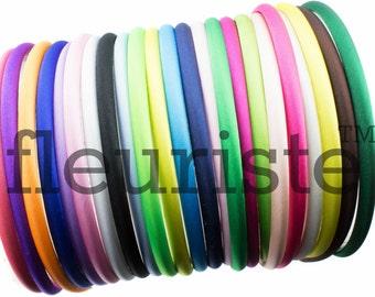 Satin Headbands, Plastic Headbands, 7mm Headbands, DIY Headbands, Wholesale Headbands, Plain headbands, Covered Headbands, Toddler Headbands