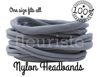 Gray Nylon headbands wholesale, nylon headbands bulk, wholesale nylon, wholesale headbands, nylon headbands, nylon baby headbands