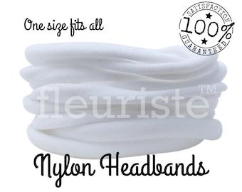 White Nylon Headbands, Nylon Baby Headband, Nylon Headbands Wholesale DIY Headbands Baby, Soft Stretch Head Wrap, Baby Headband White