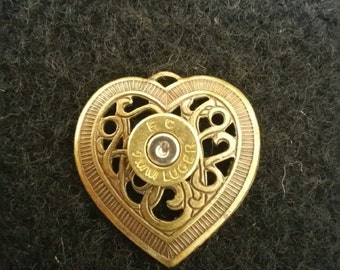 9mm Heart Pendant