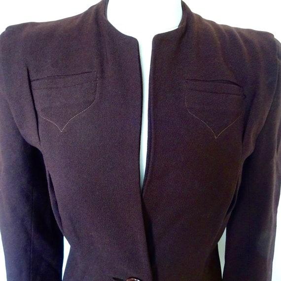 Original 40s Fitted Jacket with Shoulder Pads, Vin