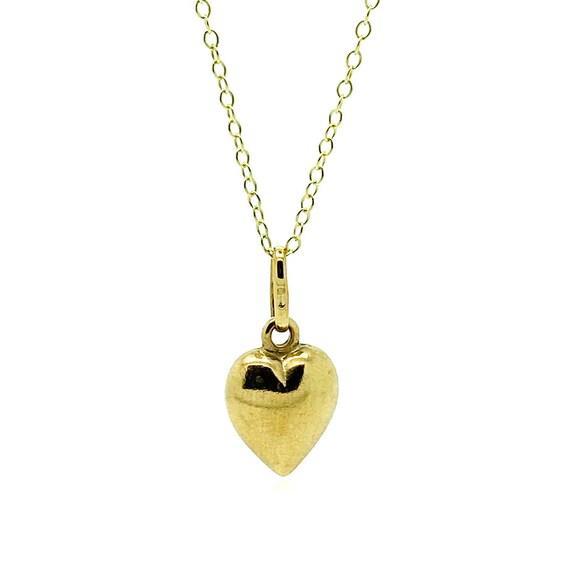 Vintage 1970s Heart Gold Charm | Vintage Charm | 1