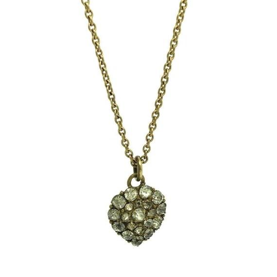 Antique Victorian Heart Necklace | Paste Heart | H
