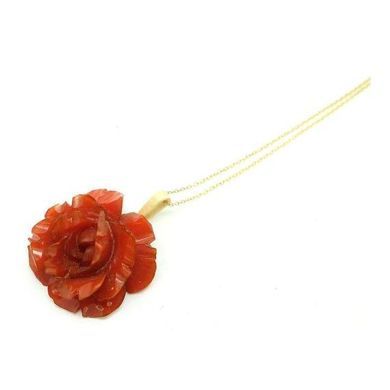 Vintage 1930's Bakelite Necklace | Flower Necklace
