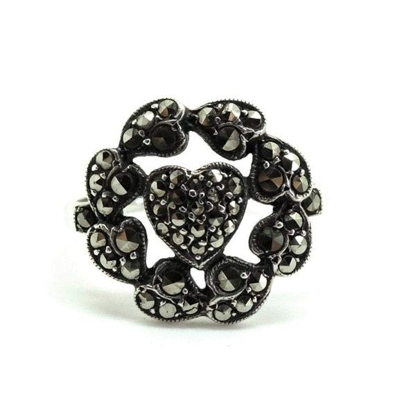 Vintage Marcasite Ring | 1930s Marcasite Ring | Ma