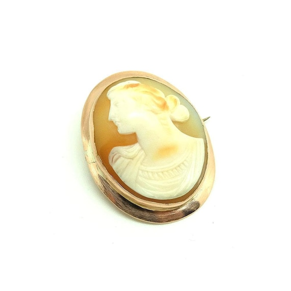 Antique Victorian Brooch | Cameo Brooch | 9ct Rose